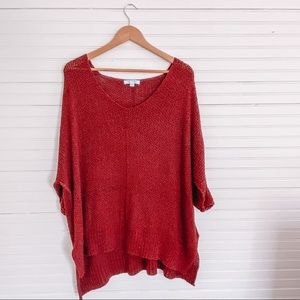 She and Sky Burgundy Knit Tunic